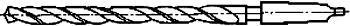 Рисунок 7 Спиральное сверло длинное с хвостовиком
